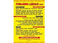 2 Reading festival 2017 Saturday tickets