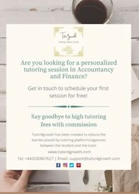 Accountancy and Finance Tutor | Tutor4growth | Personalized yet professional