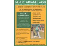 New Players wanted at Selsey Cricket Club for the 2017 Season