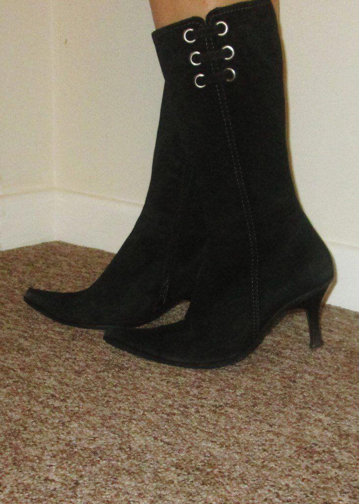 Clarks Black BOOTS SHOES*SIZE 6 UK *