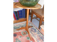 Teak Plant Stand, Lamp, Side or Wine Table