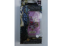 blackberry 8250 curve case and screen protector ed hardy Christian Audigier Love Kills slowly Pink