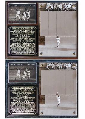 Willie Mays World Series Catch - Willie Mays #24 The Catch 1954 World Series Photo Plaque HOF Giants