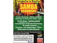Samba Drumming Taster Workshop and September Course and Continuation Classes - Bloco Vale Samba