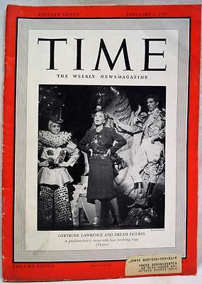 Time Magazine 3 February 1941 Wwii Vintage World War News   Advertising