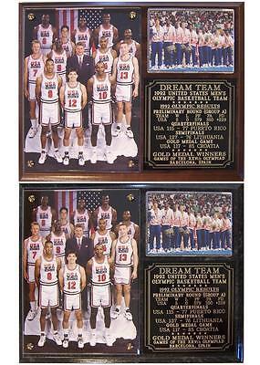 1992 Dream Team Olympic Gold Medal Men's Basketball Team USA Photo Plaque ()