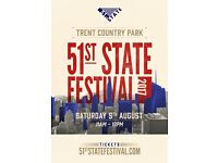2 x 51st State Festival Tickets