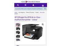 Hp office jet 8718 all in one printer
