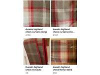 Dunelm highland check tie backs curtains blinds