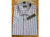 """Men's Dehavilland short sleeved striped shirt 16"""" Brand New, original packing"""