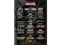 Download festival x2 tickets Sunday 10th June