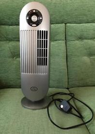 Mini Tower Fan with Ioniser - Silver