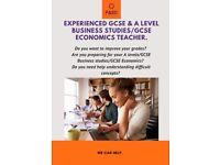 Experienced GCSE & A level Business Studies & GCSE Economics Teacher. Online tutoring.