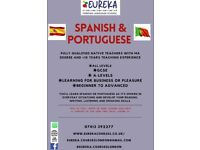 Spanish & Portuguese courses, all levels, GCSE, A-levels, DELE, additional, free lessons