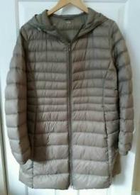 Ladies Uniqlo XL Down Coat With Hood