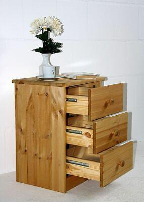 Massivholz Nachtkommode Kiefer gelaugt geölt Nachtschrank Nachttisch Kommode - Kiefer Nachttische