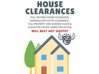 House clearance service - full or part house, garage, attic