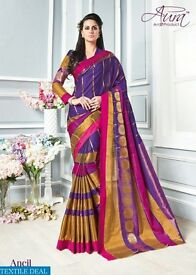 AURA LA GRACE WHOLESALE PURE COTTON SILK SAREE