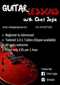 CHET JOGIA - GUITAR LESSONS **LONDON**