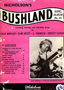Bushland-Song-Album-1958-Chad-Morgan-Sheet-Music