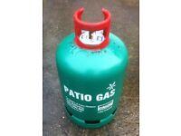 BBQ Gas 3/4 Full, 13Kg Calor Patio Gas bottle.