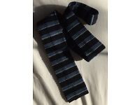Vintage Knitted Tie – Blue and Navy Stripes