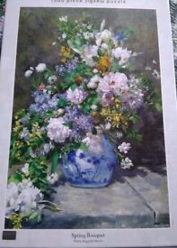 1000 piece jigsaw puzzle spring bouquet flowers