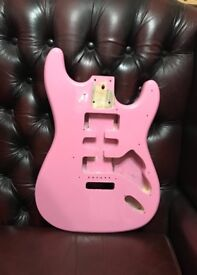 Stratocaster Shell Pink body.