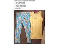 Disney Frozen leggings and vest top sets