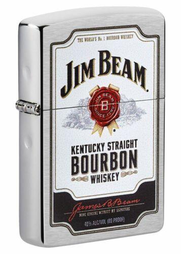Zippo Windproof Jim Beam Lighter With Bourbon Whiskey Design, 49325, New In Box