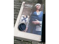 Caboo Carrier baby sling in blue organic cotton from Close Parent