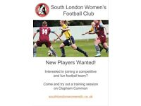 Women's Football - Ladies Football - South London WFC - New Players Wanted!