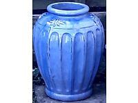 Large Blue Planter