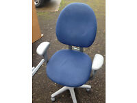 comfortable office swivel Blue office chair