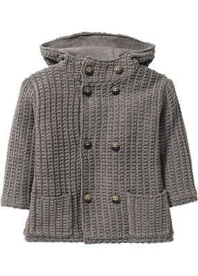 Kinder Jungen Jacke Parka Weste Sweater gefüttert in grau Größe 104/110 ()