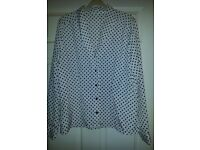 Ladies polka dot fitted blouse