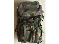 BRITISH ARMY WEBBING BERGEN RUCKSACK MOLLE PLCE CAMOUFLAGE VGC GENUINE ISSUE BACKPACK SOLDIER TROOPS