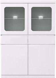 White gloss display unit