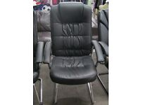 Quality executive / office / visitor black leatherette chair