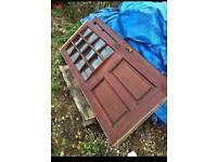 Hardwood exterior doors