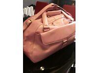 Pink holdall bag