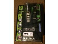 Wahl Triple play grooming kit- shaver, trimmer etc