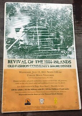 Poster For Thousand Islands Community Shore Dinner   Clayton New York