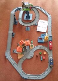 2 x Chuggington Interactive Railway Toys All Around and Old Puffer Pete Steam