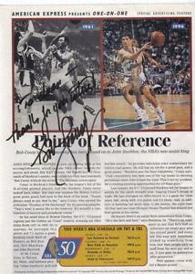 Bob Cousy Autog. his photo on a Sports Illustrated page year1997 London Ontario image 1