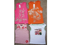 Ladies T-shirt tops from sleeveless to long sleeved, sizes 10 – 18, some NEW. 75p - £1.50 each
