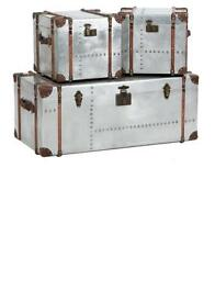 Bardem Set of 3 Silver Trunks