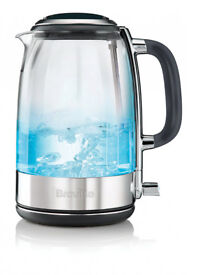 Breville VKT071 1.7L Glass Crystal clear Kettle Cordless brand new boxed
