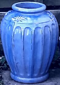 Large Blue Planter