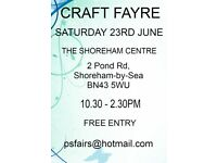 CRAFT FAYRE/FAIR 23RD JUNE SHOREHAM CENTRE SHOREHAM BY SEA WEST SUSSEX